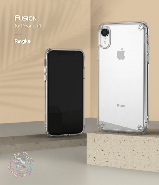 Ringke Fusion for iPhone XR Transparent Hard PC Back Soft TPU Frame Hybrid Impact Resistant for iPhone XR