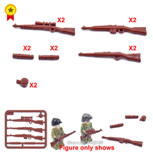 Купить с кэшбэком PUBG Building Blocks Germany military army equipment Mini Ww2 arms KAR 98K Gewehr43 compatible legoINGlys Figures Toy gift
