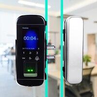 High quality office glass fingerprint door lock Glass Door Lock Fingerprint Lock Supplier Biometric Free shipping