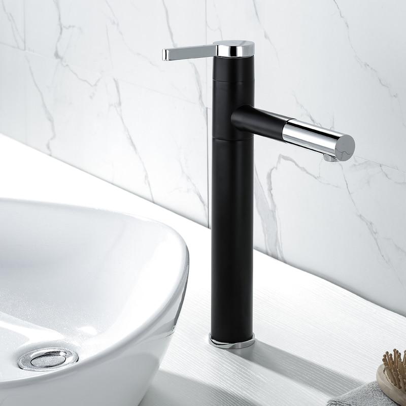 Mezcladores De Lavabo Color Negro Antiguo Negro Agua Caliente Y Fría Lavabo Del Baño Fregaderos De Lavabo Grifos de lavabo