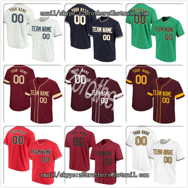 1669595fcf2 Custom Baseball Jersey for Men Women Youth Kid Button Down Embroidered  Player Name Number Diy Design Your Own College Team Logo