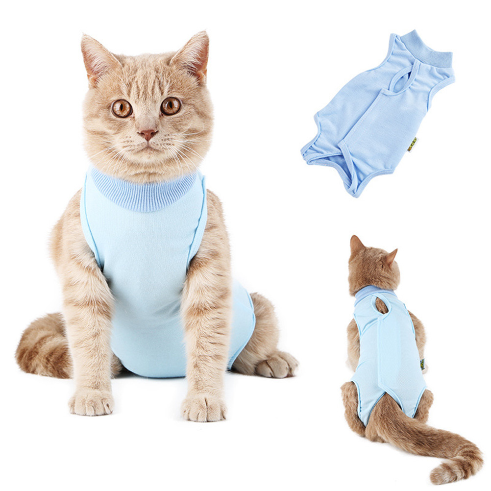 Lick And Anti Scratch Cotton Close Cat Clothing Cats Recover Clothes After Sterilization; Pet Skin Disease Wound Anti