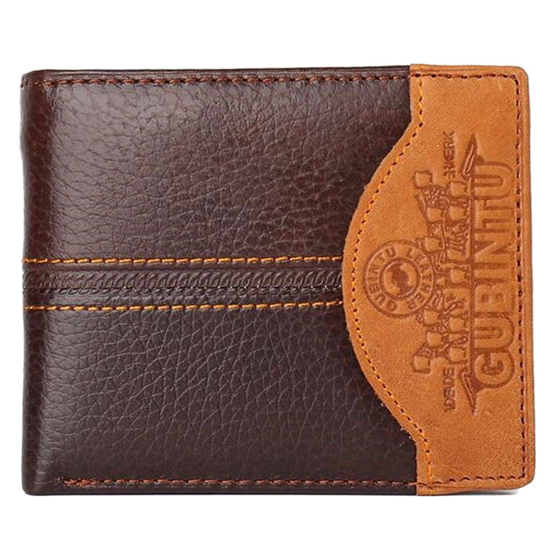 GUBINTU Man Genuine Leather Wallet Card Pouch