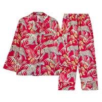 pajama sets Silk like Ms. Long Sleeve Trousers Home Service Two Piece Set ropa verano mujer sleep lounge pyjamas women