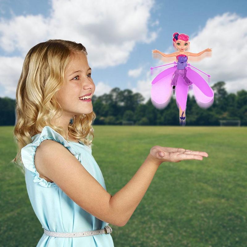 Pequeña princesa de cuento de hadas de juguete iluminación suspender Robot volador niños y niñas de juguetes para niños regalos de navidad
