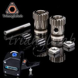 Drivegear kit dupla unidade extrusora de engrenagem kit clonado atualização para extrusora para prusa i3 impressora 3d engrenagem mini bowden extrusora