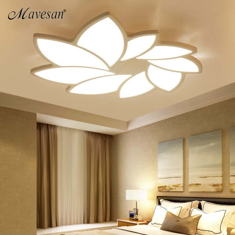 Modern Acrylic ceiling lights for bedroom support 110V and 220V Remote control led surface mount lampsModern Acrylic ceiling lights for bedroom support 110V and 220V Remote control led surface mount lamps