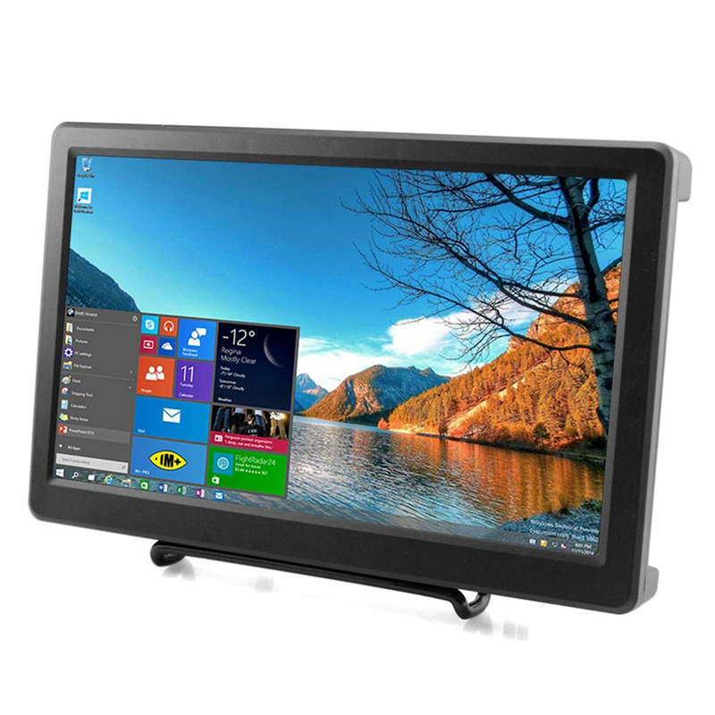 10.1 Inch For Raspberry Pi 1920X1080P Resolution Hdmi Vga Display Monitor Ips Gaming Screen With Build In Speakers For Raspber
