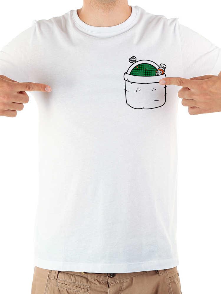 Япония Аниме dragon ball Гоку в карман забавная футболка для мужчин лето 2019 г. Новый Белый повседневное homme Прохладный dragonball