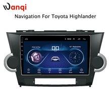 9 дюймов Android 8,1 полный сенсорный экран автомобиля мультимедийная система для Toyota highlander 2014-2009 Автомобильный gps Радио Навигация