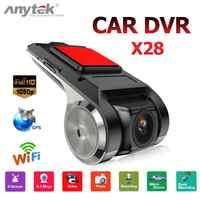 Anytek X28 1080P HD WiFi Car DVR Camera Video Recorder 1G DVR ADAS G-sensor Car Dash Camera Electronics support 32G TF Card