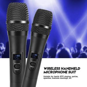 Image 3 - 1 to 2 Universal VHF Wireless Microphone Handheld 2 Channel microfone sem fio with Receiver for Karaoke/Business Meeting microfo