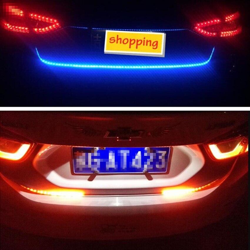รถ LED Tailgate Trunk แฟลชที่มีสีสันโคมไฟสำหรับโฟล์คสวาเก้นโปโลกอล์ฟ 4 6 5 7 POLO Passat B5 B6 B7 tiguan Touran SRX POLO GOLF 6