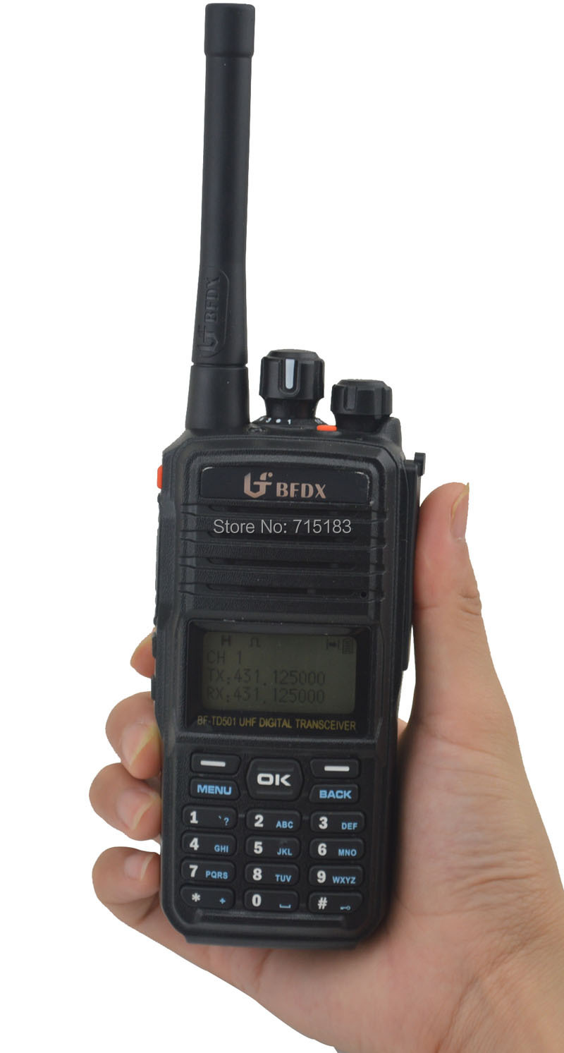 Bfdx Bf Td501 Uhf 400 470mhz Dmr Digital Fm Transceiver Two Baofeng Pofung 530i Radio Walkie Handy Talky Ht Dual Band Red 1 Handstrap