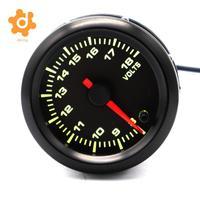Car Motor 7 Color LED Light 52mm 8V 18V Volt Voltmeter Gauge Pointer Meter
