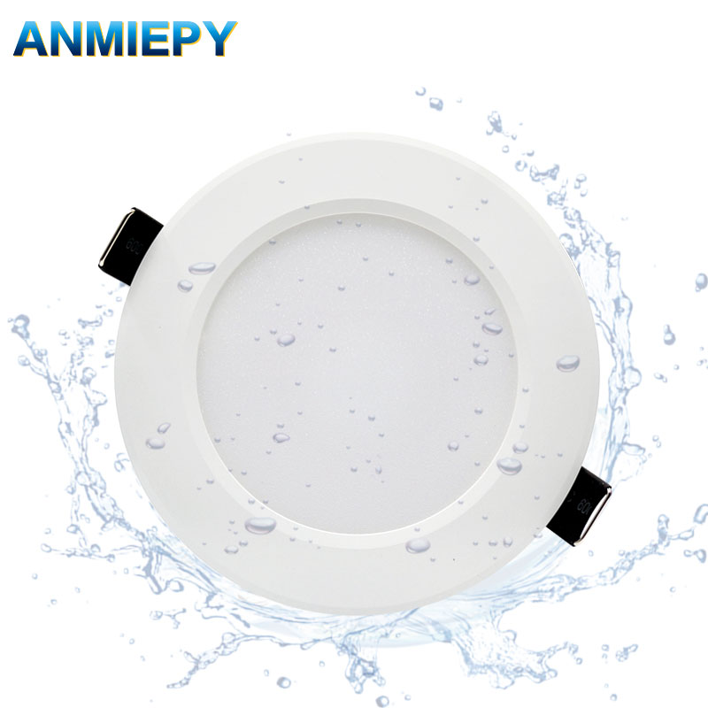 Dimmable Waterproof LED Downlight AC220V 230V 5W 7W 9W 12W 15W 18W 24W LED Indoor Lamp Recessed LED Spot Light For Bathroom
