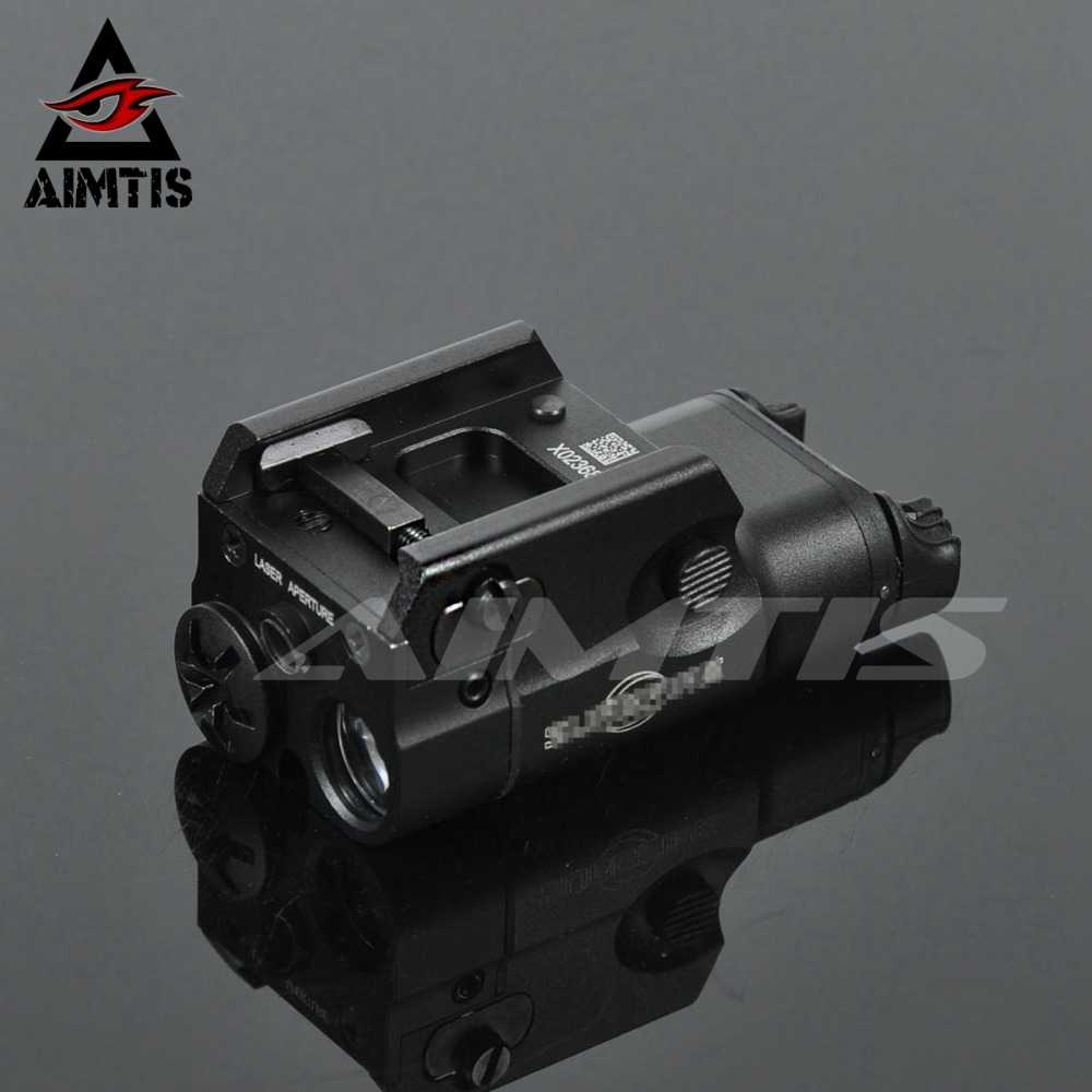 AIMTIS XC2 Laser Licht Compact Pistool Zaklamp Met Red Dot Laser Tactical LED MINI Wit Licht 200 Lumen Airsoft Zaklamp
