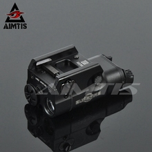 AIMTIS XC2 Laser Light Compact Pistol Flashlight With Red Dot Laser Tactical LED MINI White Light 200 Lumens Airsoft Flashlight цена в Москве и Питере