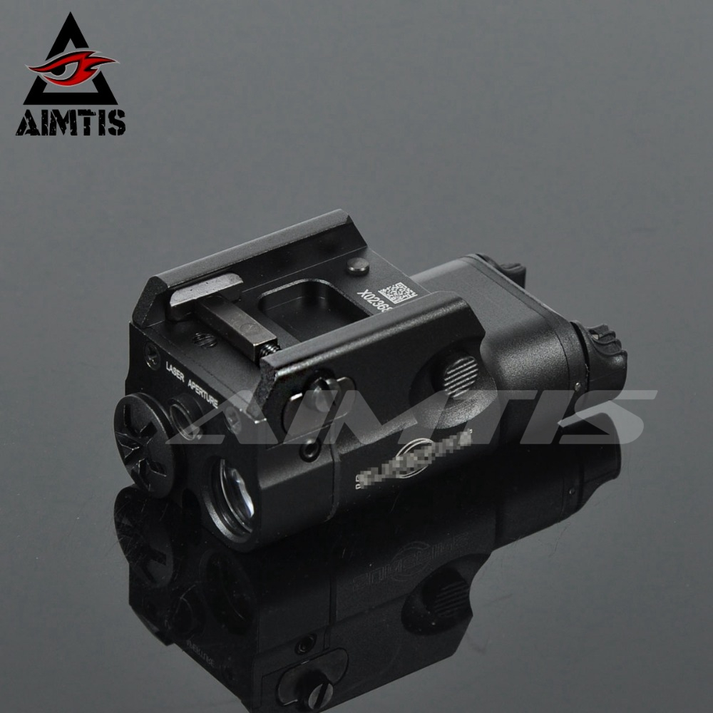 AIMTIS XC2 Laser Light Compact Pistol Flashlight With Red Dot Laser Tactical LED MINI White Light 200 Lumens Airsoft Flashlight image
