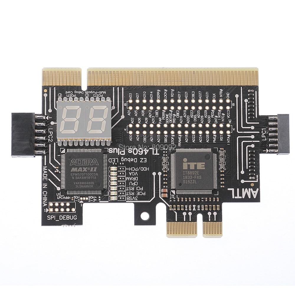 Universal Laptop And PC PCI PCI-E Mini PCI-E LPC Motherboard Diagnostic Test Analyzer Tester Debug Cards For Laptop Desktop