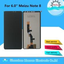 """الأصلي M & سين ل 6.0 """"Meizu ملاحظة 8 M822H LCD شاشة عرض + محول رقمي يعمل باللمس الشاشة ل Meizu ملاحظة 8 الجمعية عرض Lcd"""