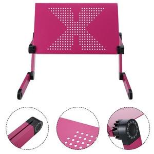 Image 4 - 접이식 노트북 노트북 스탠드 침대 트레이 조정 가능한 컴퓨터 책상 테이블 알루미늄 합금 휴대용 미끄럼 방지 테이블 사무용 가구