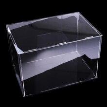 32x25x25 سنتيمتر عبوة عرض أكريليك واضح تظهر صندوق لشخصيات العمل دمية نموذج