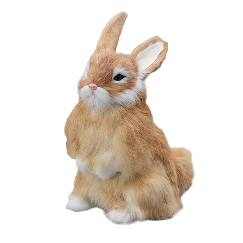 Simulation Lifelike Rabbit Model Toy for Home Garden Ornaments Collections