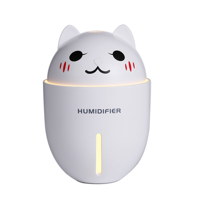 Fashion Summer Portable USB Cute Pet 3 In 1 Humidifier New Cartoon Cat Mini Humidifier With LED Light