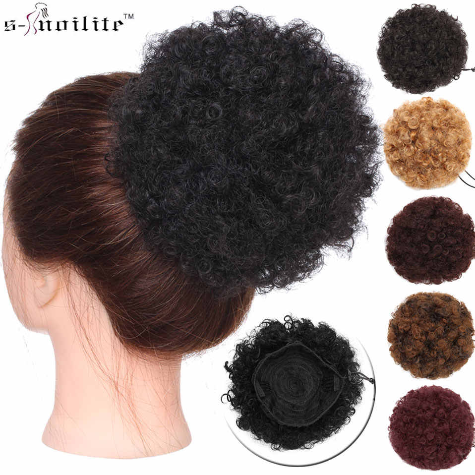 S Noilite 6 8 Sintético Puff Afro Corto Rizado Chignon