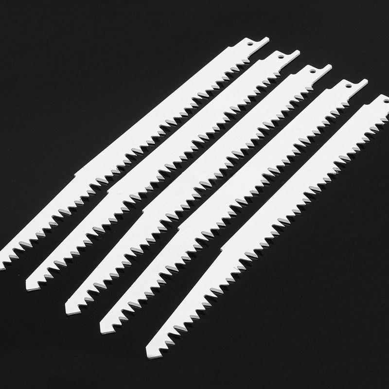 5pcs Set 240mm 5 TPI Carbon Steel Reciprocating Saw Blades for Bosch Makita