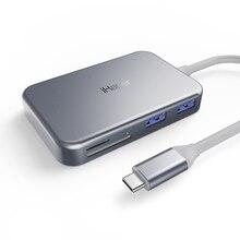 Ihaper C003 7-в-1 USB-C концентратор с Тип-Док-станция с USB/HD видео Выход/USB-A 3,0/микро SD карты Порты
