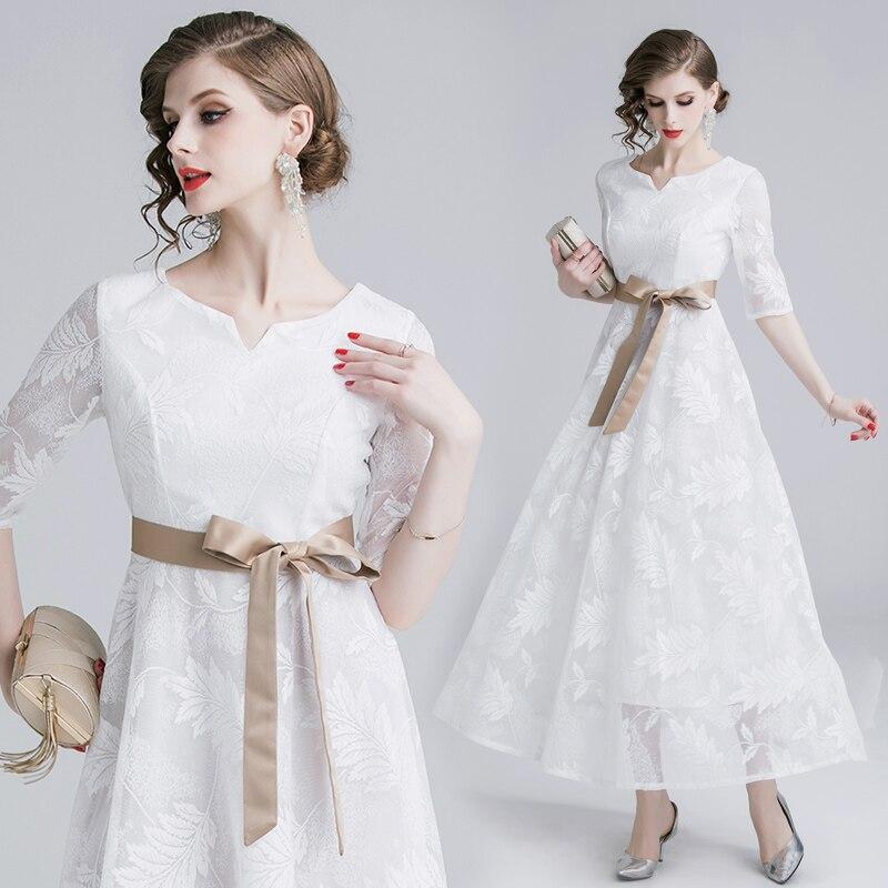 Film-Europe et les etats-unis vetement femme commerce extérieur robe manche posée robe blanche robe dentelle