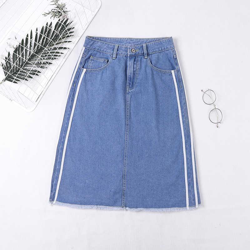 ddc5a5da863c Jupe Jeans Taille Haute High Waist Denim Skirt Women 2019 Spring Summer  A-line Pencil