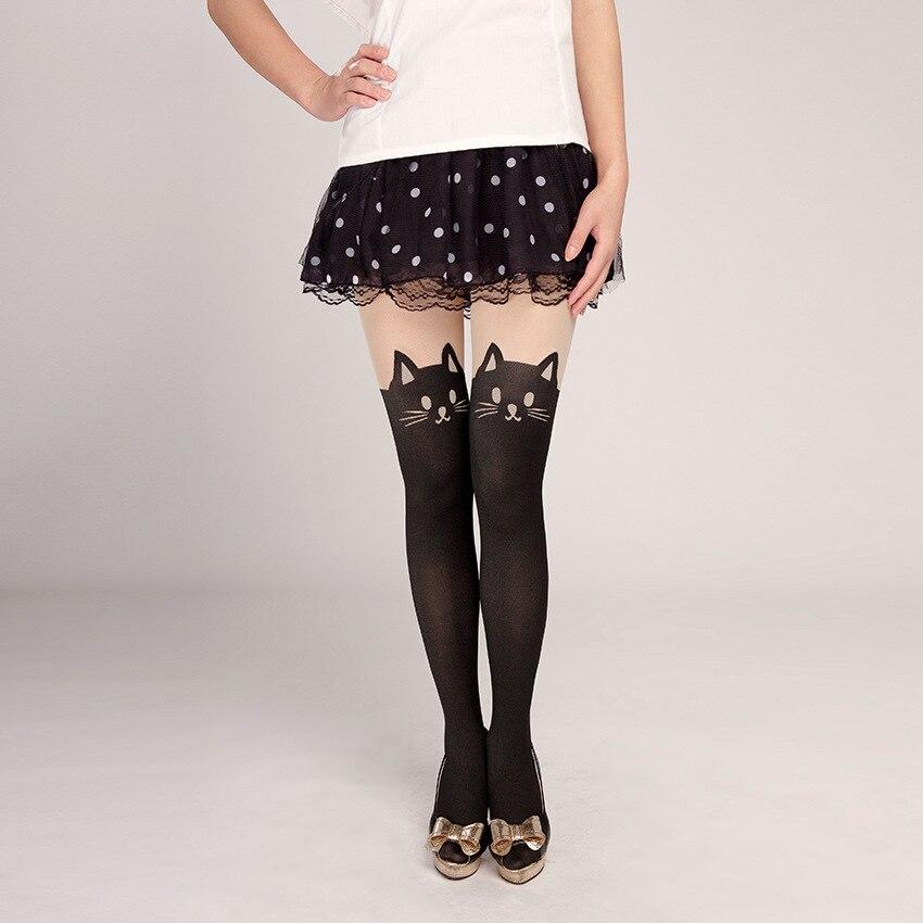 Fashion Womens Lady Girls Black Sexy Fishnet Pattern Jacquard Stockings Pantyhose Tights  Skull Woman 1pcs Dww44
