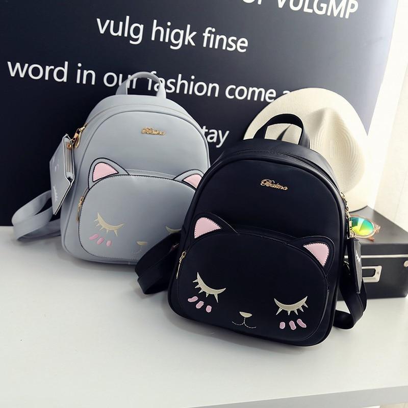 Female Miyahouse PU Leather Backpacks Trendy Female Drawstring Travel Bags Retro School Bags Women High Quality Rucksack Mochila
