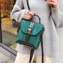 Vintage Women Mini Rivet Backpack Small Ladies Shoulder Hand Bags Travel  School Casual Crossbody Bag for Girls Teenage Female e102d768f1c9b