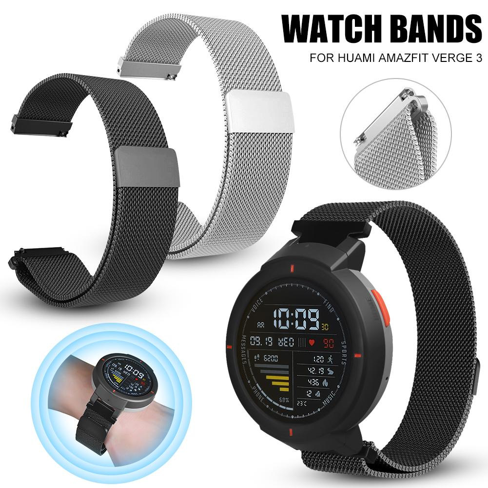 Metal Milanese Loop Watch Bands Magnetic Adsorption Wristband Durable Strap For Xiaomi For Huami Amazfit Verge Metal Milanese-in Smart Accessories from Consumer Electronics