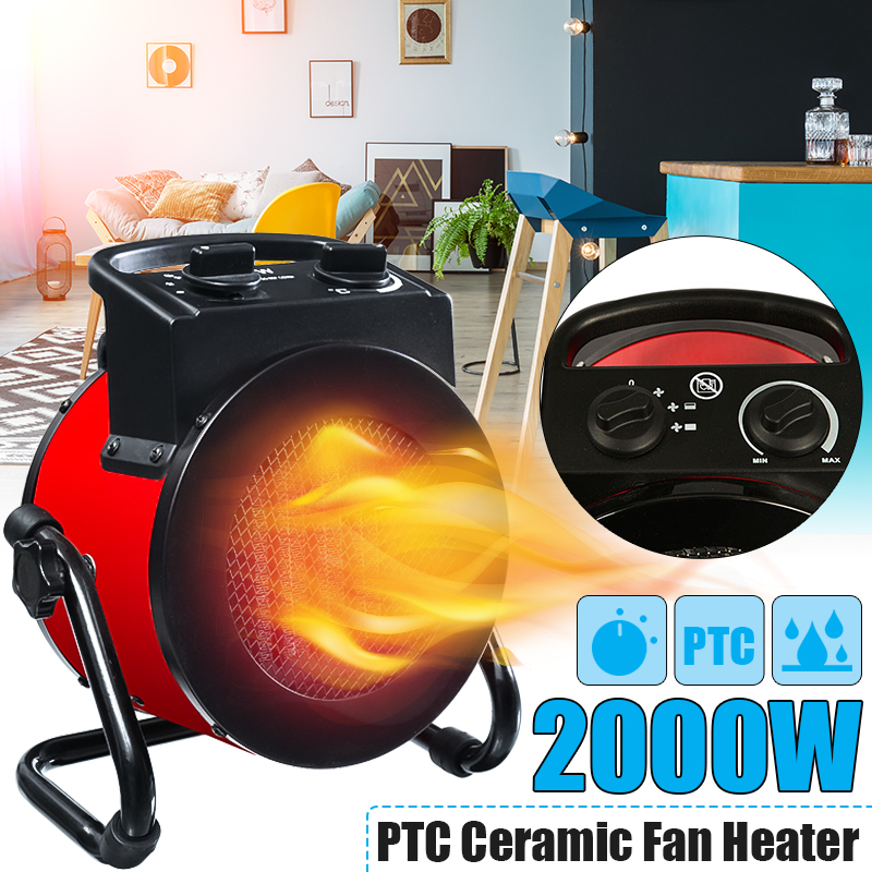 220V 2000PTC 2kW electric home fan heater air warmer Portable ptc Ceramic Fan Forced Space Heater Electric warm air blower minf01 10 free shipping ptc ceramic space heater electric 220v 500w warm winter mini desktop fan heater forced home