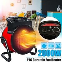 220V 2000PTC 2kW electric home fan heater air warmer Portable ptc Ceramic Fan Forced Space Heater Electric warm air blower