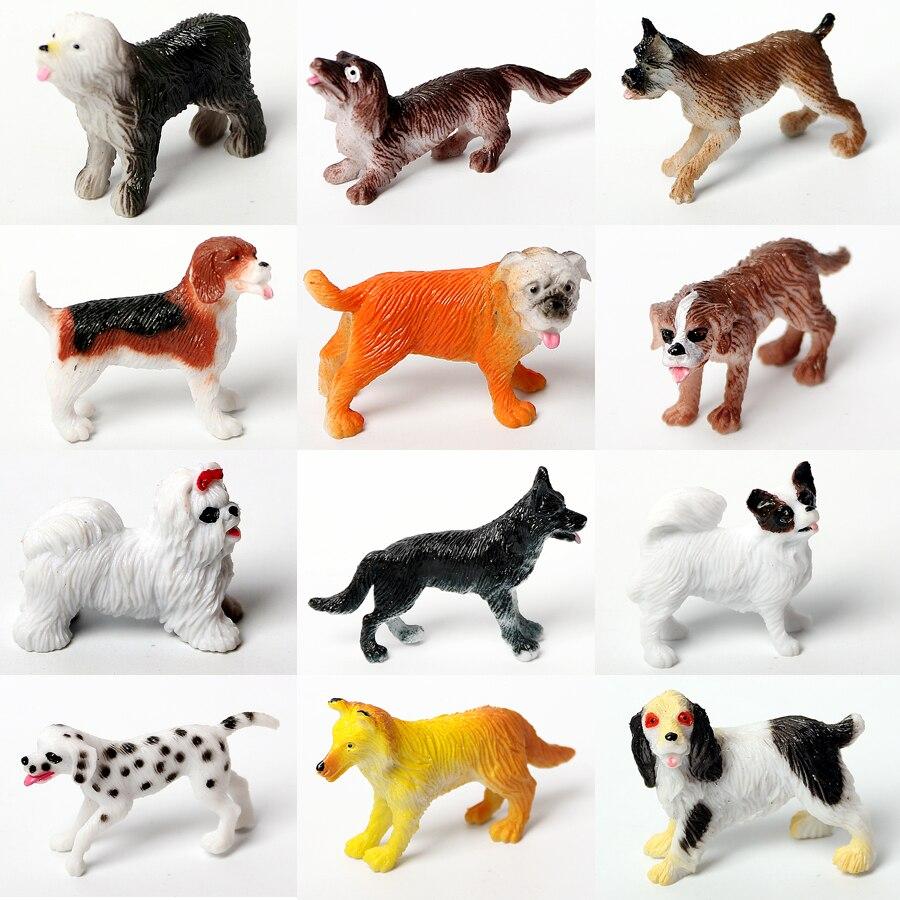 12PCS Farm Simulation Static Dogs Animals Models Home Decor Figurine Figures Decoration Toys Set,Realistic Dogs Figures For Kids