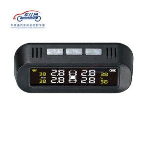 Image 3 - Auto TPMS monitoraggio della pressione dei pneumatici sistema di energia solare TPMS supporto Inglese di voce Interno Esterno sensore di pressione dei pneumatici