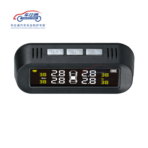 Image 3 - Car TPMS tire pressure monitoring system Solar power TPMS support English voice Internal External tire pressure sensor