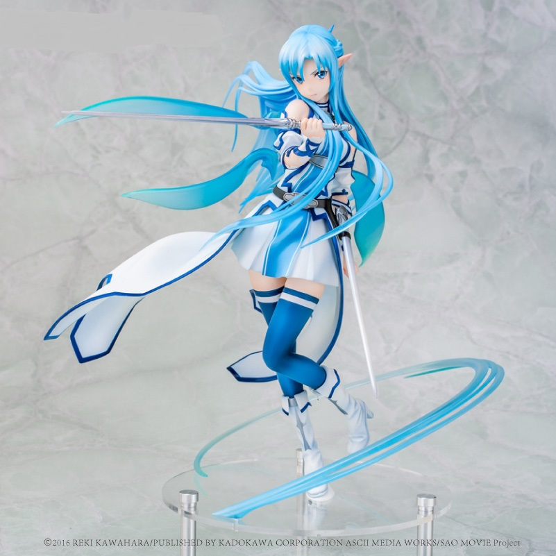 Anime Sword Art Online Asuna Yuuki Water Spirit Kirito Asuna Figure PVC Action Figure Collection Model Kids Toy For Kids Gifts