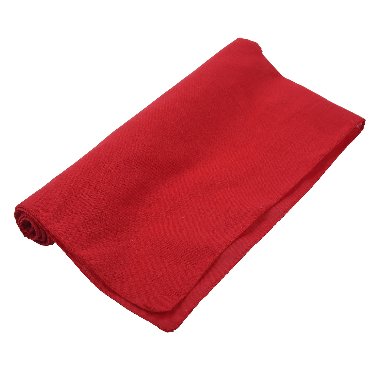 Fancy Plain Bandana 100% Cotton Head Neck Wrist   Wrap   Neckerchief   Scarf   12 Color Colour:Red