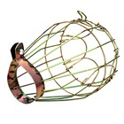 SDYDAY Iron Wire Bulb Guard, Clamp On, Vintage Metal Iron Wire Bulb Cage Lighting Lampshade(Golden)