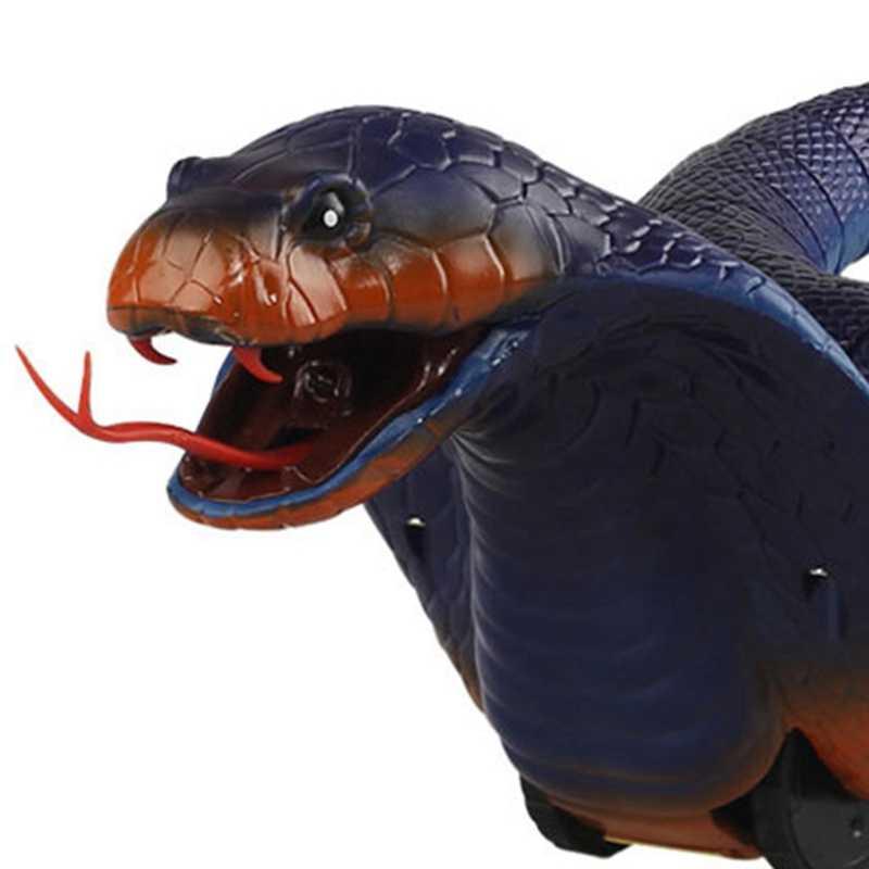 Zor oyuncak simülasyon Cobra Naja yenilik uzaktan kumanda yılan Trick korkunç yaramazlık oyuncak Rc yılan bahçe sahne yumurta menekşe B