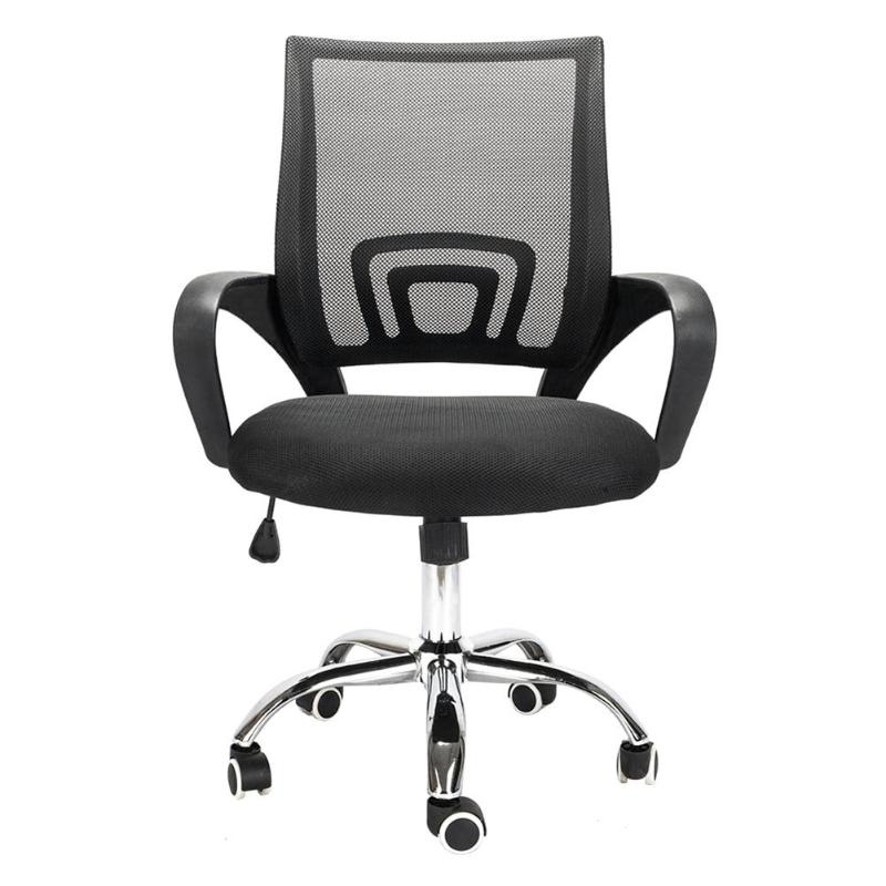 Adjustable Office Swivel Chair Plastic Armrest Mesh Back Gas Lift Gaming Chair Computer Chair Black More Discounts Surprises
