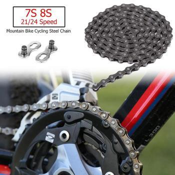 Chaîne de vélo 116 liens 7 S 8 S 21/24 vitesse vtt VTT chaîne en acier cyclisme pièces