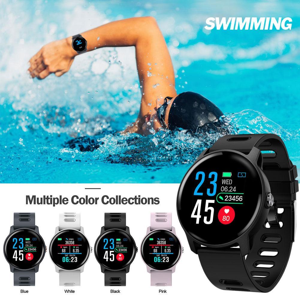 Novo Relógio Inteligente S08 SENBONO IP68 Rastreador De Fitness Monitor De Freqüência Cardíaca Pedômetro À Prova D' Água Mulheres Smartwatch Para Android IOS